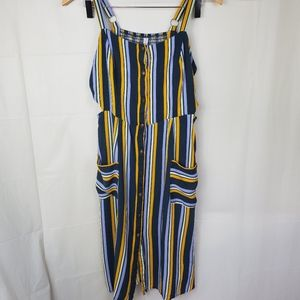 Xhilaration nautical stripe square neck midi dress